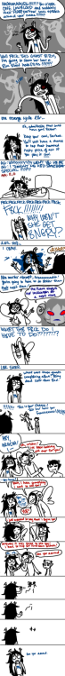 ceriene:  adebimpe:  doodleanon:  Full size Vriska/Aradia This has been sitting on my computer way too long, so I finished it and now it's here. Part of me wants to wait a little and restructure it because the pacing is all over the place, but it's been hanging around for a while so fuck it.  oh my god this is so perfect why hasn't this happened in canon  It's hard having a kismecrush. It's hard and no8ody understands.