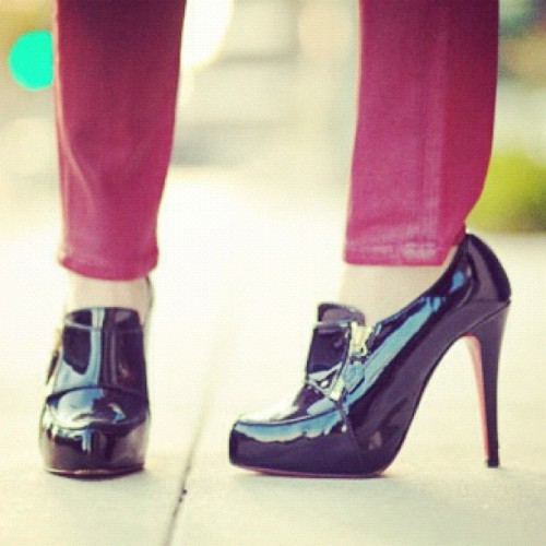 Loafer heels by #christianlouboutin #louboutin #fashionstreet #fashion (Taken with instagram)