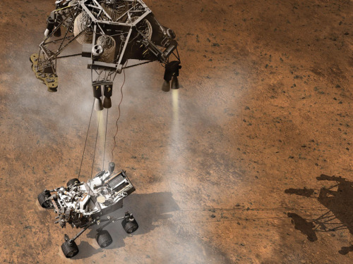 darylelockhart:  100 Days and Counting to NASA's Curiosity Mars Rover Landing On April 27, (1:31 p.m. EDT), NASA's Mars Science Laboratory, carrying the one-ton Curiosity rover, will be within 100 days from its appointment with the Martian surface. At that moment, the mission has about 119 million miles (191 million kilometers) to go and is closing at a speed of 13,000 mph (21,000 kilometers per hour). To read more click HERE (via jonnodyson)