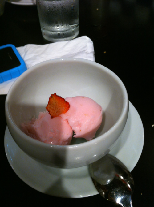 Cherry blossom ice cream @ Ippudo..