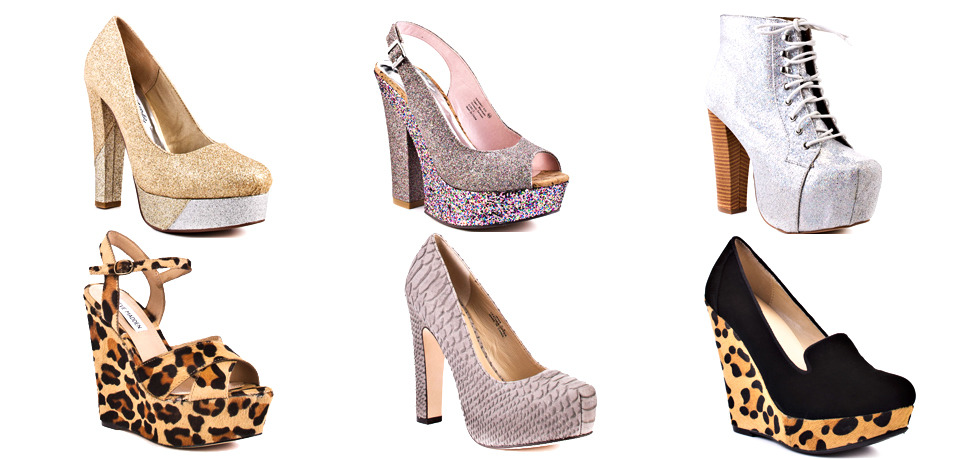 Glitter vs. animal print. What is your shoe trend this summer? All these lovely pumps are from heels.com. If you want to win some of them, just take part in our contest.