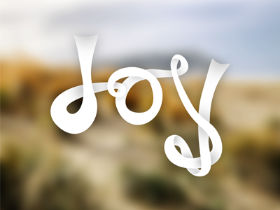 Ribbon Typography #3 Joy