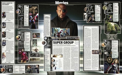 Giant-sized Avengers poster/article from The Boston GlobeEditorial designer: Ryan Huddle, design director: Dan Zedek