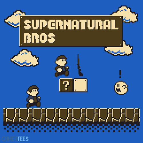 If you haven't bought one already my Supernatural Bros T-shirt design is only on sale for another 4 hours over at OtherTees.com so make sure you don't miss out on it! and don't forget that it comes in 3 colours, light blue, royal blue and red! …Why not buy one of each if you aren't sure which to pick :P
