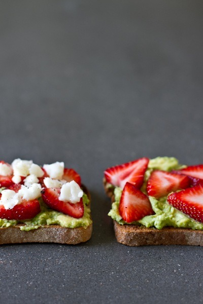 mostlysavory:  Avocado, Strawberry, and Goat Cheese Sandwich