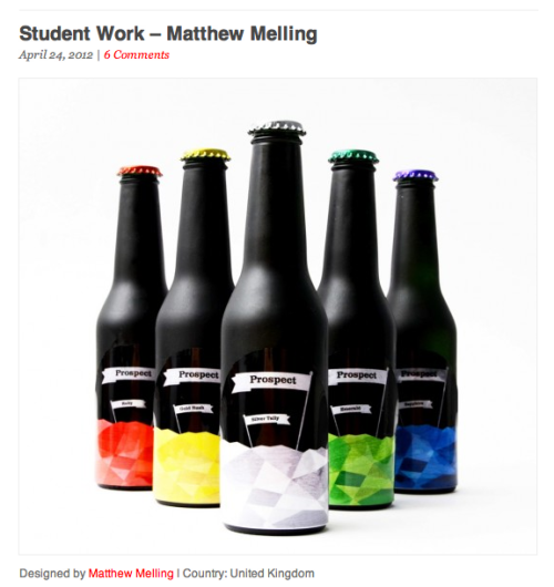 Third year Matt Melling has been featured on Lovely Package!