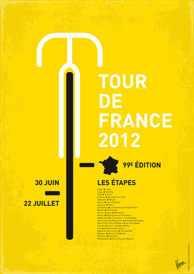 bicyclestore:  Tour de France 2012 - Poster