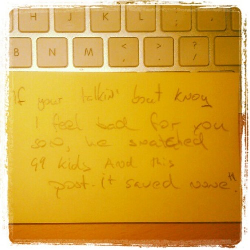 Quotes on a post-it (Taken with instagram)
