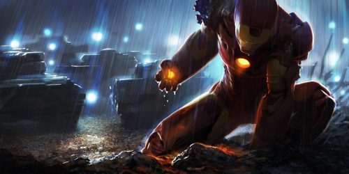 Iron Man concept art.