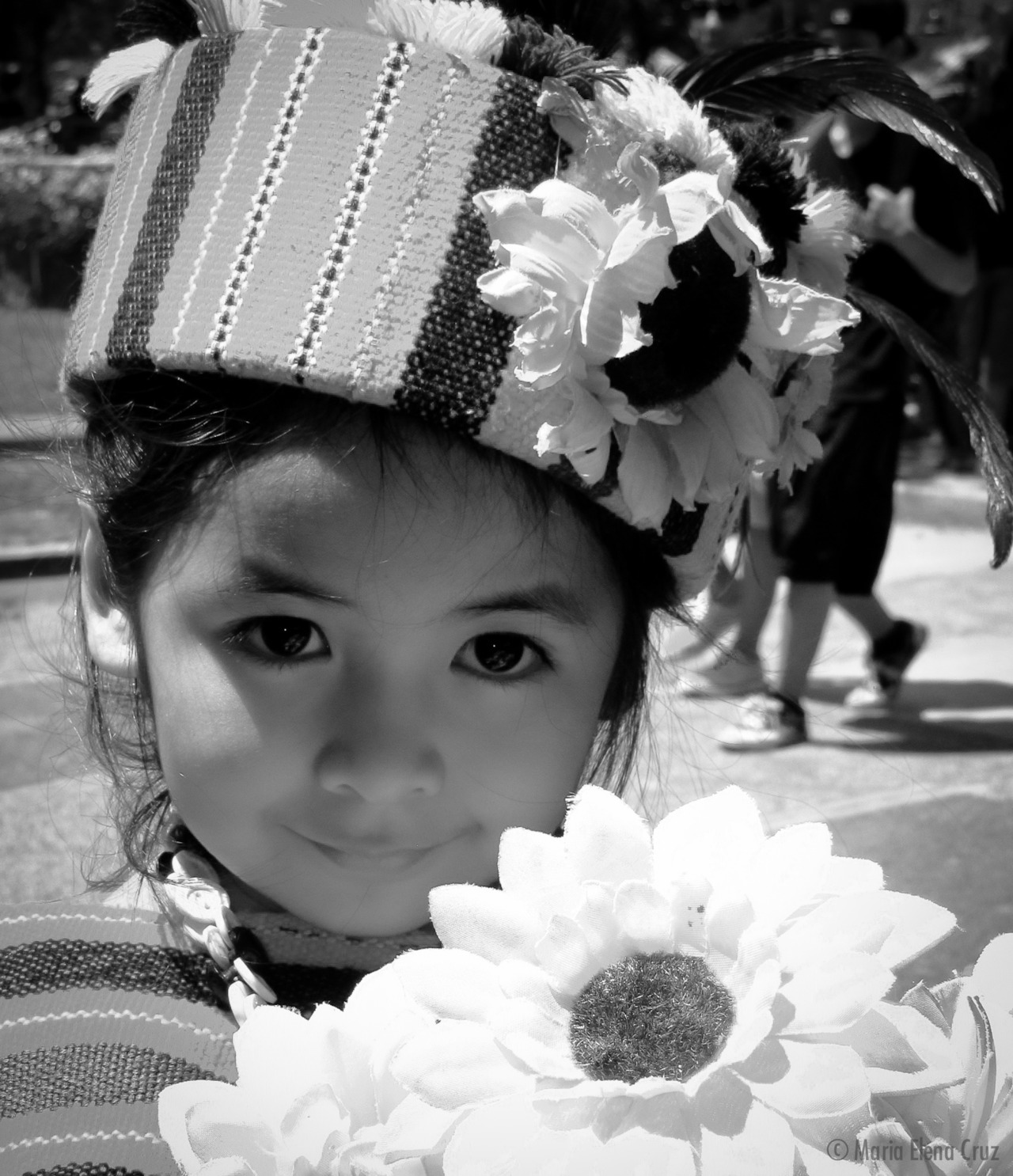 Lovely Little girl in native Igorot costume.