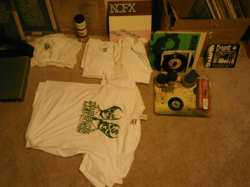 Tshirts & records.