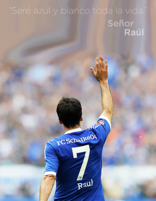 """I will be blue and white all life."" Mr. Raúl Gonzalez."