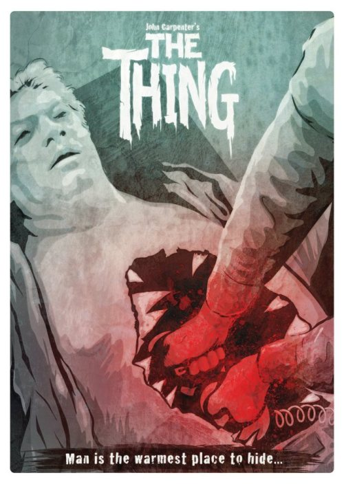 "xombiedirge:  The Thing by Domanic Li 16.5"" X 11.7"" digital print. S/N Edition of 50, available HERE.  Kittens are warmer."