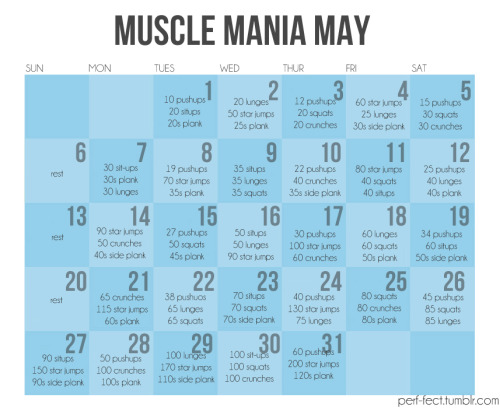 MUSCLE MANIA MAY - not for the lighthearted
