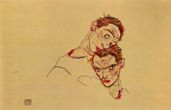 childrenknoweverythingaboutlove:  Double self-portrait, 1915 - by Egon Schiele