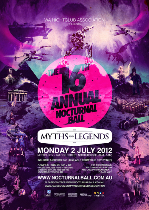 artbykris:  Myths And Legends Flyer