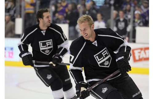 nhl-bromances:  Jeff Carter and Mike Richards, Los Angeles Kings.