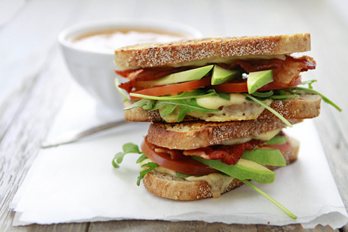 t-ranquillity:  feijoasandavocados:  in-my-mouth:  Avocado and Fried Egg BLT  mmmmmmmmm  click here for more ❂