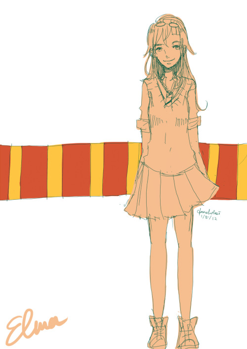 finally pottermore OC ^^ meet my gryffindor bby ,Elma (from my Id , ElmAshphodel) hahha may draw her with her betch wand later