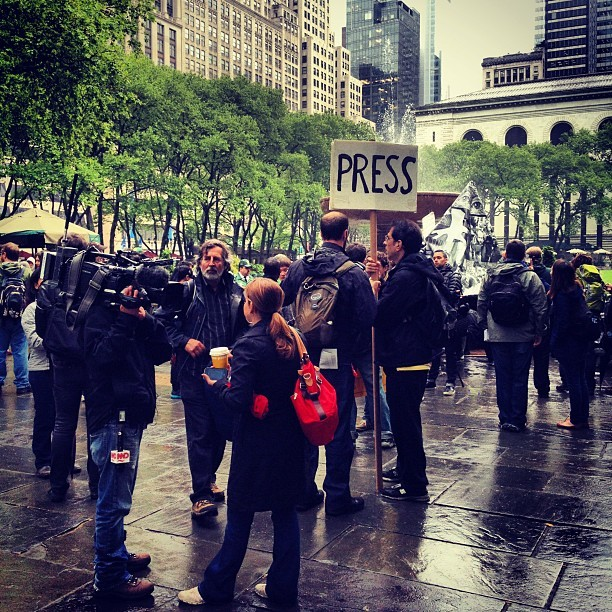 Press. (Pre) #occupy  (Taken with Instagram at Bryant Park)