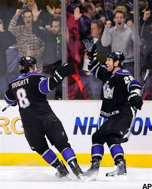 Drew Doughty and Jarret Stoll, Los Angeles Kings. (via @misanthrosteve on twitter)