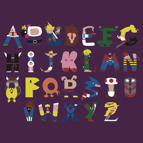 thisgirlgames:  The Gamer's Alphabet.