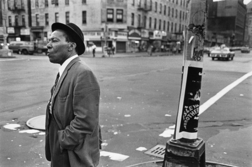 timelightbox:  A Man on the Corner of Lenox Ave. & 125th St., Harlem, NY, c. 1976 Present-day Chicago is not Harlem in 1979. Present-day Harlem isn't even Harlem in 1979. But at the Art Institute of Chicago's new exhibition Dawoud Bey: Harlem USA, some things have stayed the same. See more here.