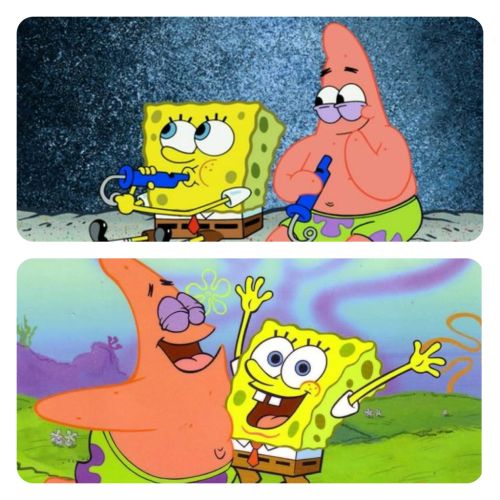 Spongebob and Patrick has the best friendship.