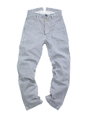 Very excellent! Kapital Hickory Stripe Bicycle Pants. Reverse pockets perfect size for a smart phone, easy access.