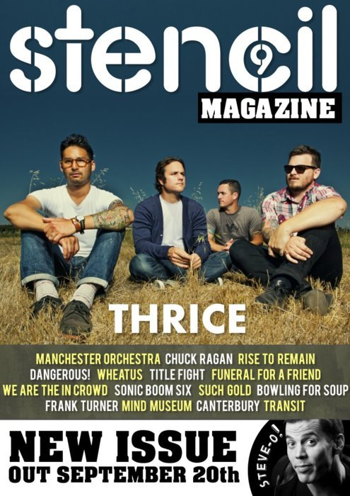 **BLAST FROM STENCIL MAG PAST**Now that Thrice have started their farewell tour we thought it might be a nice time to share with you one of our older issues, it features a front cover feature with the band! Just click the picture to check it out. Also, we saw the band perform last night in London, and it was one of the best gigs we have ever attended, we would share the set list with you, but we don't really want to spoil the experience!