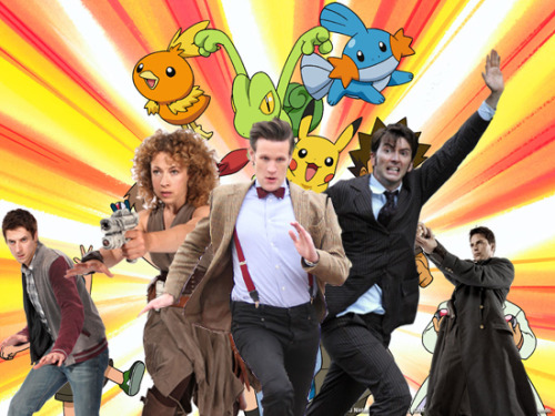 Pokemon + Doctor Who(?) via David Tennant In Places He Shouldn't Be