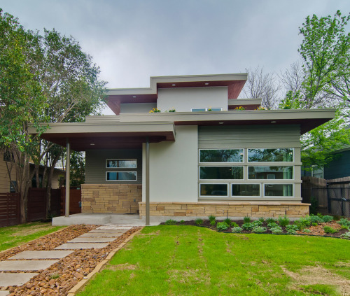 Recently-completed residence in the Bouldin Creek neighborhood of Austin, TX