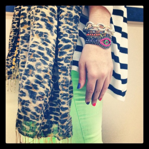 Neon, stripes, leopard & color, color, color. (Taken with instagram)