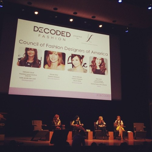 We had a fantastic time at Decoded Fashion yesterday! Looking forward to seeing everyone again soon. (photo via eholmeswsj)