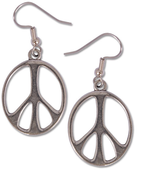$14 (via Peace Sign Earrings: Soul-Flower Online Store)