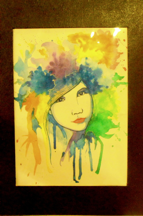 best birthday gift, ever! thank you Mang Jhemar! :)  medium: watercolor paint