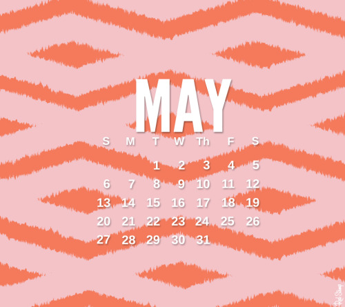 "Happy May Day! We have a ""basket"" for you, May's calendars are up! This bold tribal design is from an up + coming collection in our app! Keep your eyes peeled."