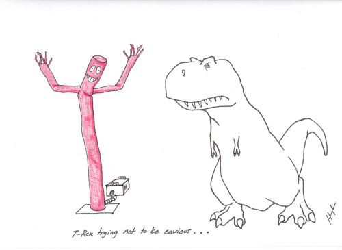 trextrying:  T-Rex Trying Not to Be Envious… #TRexTrying