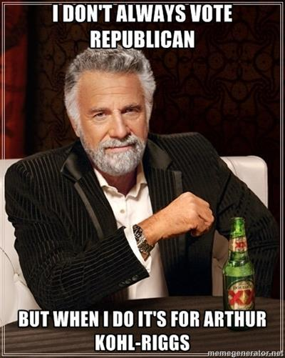 I don't always vote Republican…   Vote May 8th.