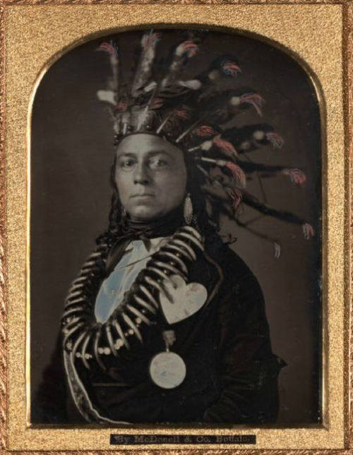 ca. 1850's, [daguerreotype portrait of Indian Chief Maungwudaus, Upper Canada], Donald McDonnell via the Nelson-Atkins Museum of Art, Photographic Collections