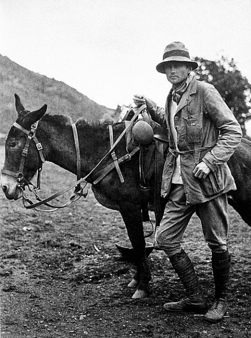 "People Who Studied Abroad #360:  Hiram Bingham III, explorer and U.S. Senator  From: Kingdom of Hawai'i  Studied: In his teens, he was sent to the United States to study at Phillips Academy.  He also received his B.A. from Yale University in 1898, another degree at University of California, Berkeley in 1900, and a PhD at Harvard University in 1905.He is recognized as one of the people who brought the Incan city of Machu Picchu to the world's attention, although it is also recognized that his ""archaeology"" could also be interpreted as looting.  He may have been an inspiration for the character of Indiana Jones."