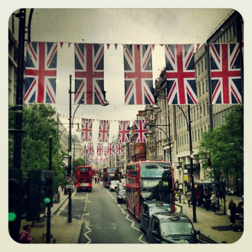 daneikamarch:  Oxford street April 2012 (Taken with instagram)