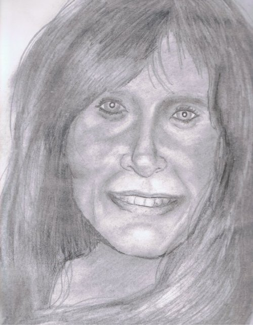 My dear mother, drawn in 2010. Happy mother's day!