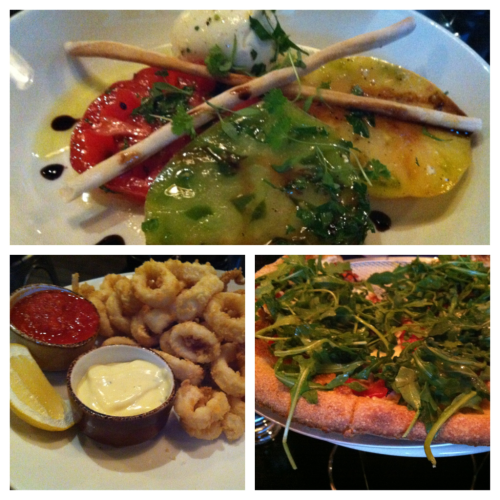 scrumptious dinner last night at bricco trattoria (never disappoints)! the heirloom tomato caprese was almost too pretty to eat (almost, but not quite) plus my light and lemony fried calamari and rachel's arugula pizza. we opted for a far less fancy dessert by way of TCBY, enjoyed fountainside, though :) bricco trattoria | eric town square | 124 hebron avenue | glastonbury, ct | 06033