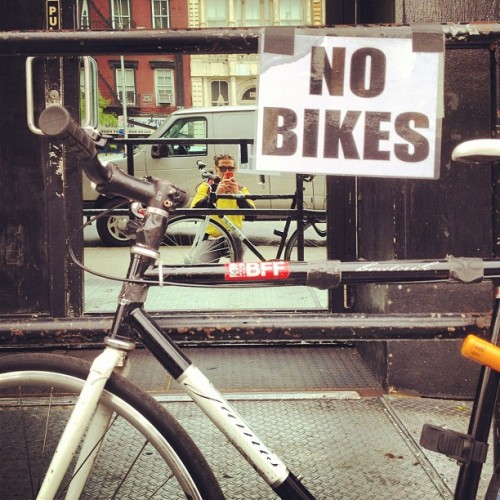 terrible place to park my bike.  (Taken with instagram)