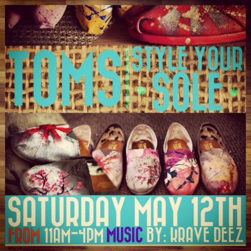Toms Style your Sole event May 12th 11:00-4:00 @tomsshoes @con_nor  @kravedeez_momo_gettaclue #toms #tomsshoes #goodstockboutique (Taken with Instagram at Good Stock Boutique)