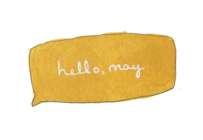 366sketchbook:  121/366 hello, may. so good to see you. :)
