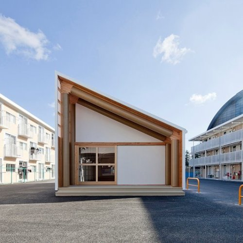 Onagawa Container Temporary Housing by Shigeru Ban