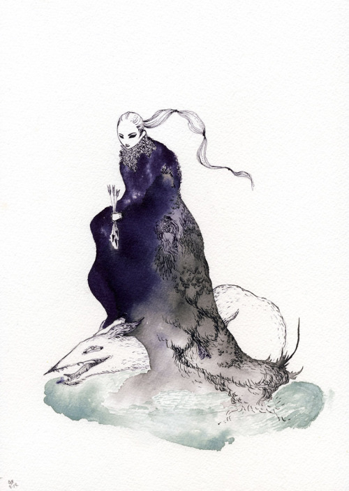drawgabbydraw:  No time for anything but quick drawings lately. Watercolor and inks.