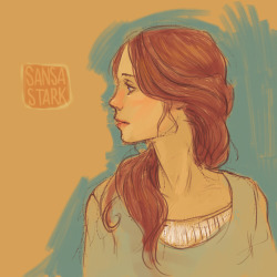 Impromptu Sansa sketch. Given that she's currently being ignored on Game of Thrones, I felt the need to contribute to her visibility.